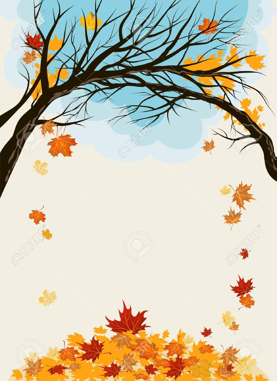 Maple leaves background with space for text Stock Vector - 10585589