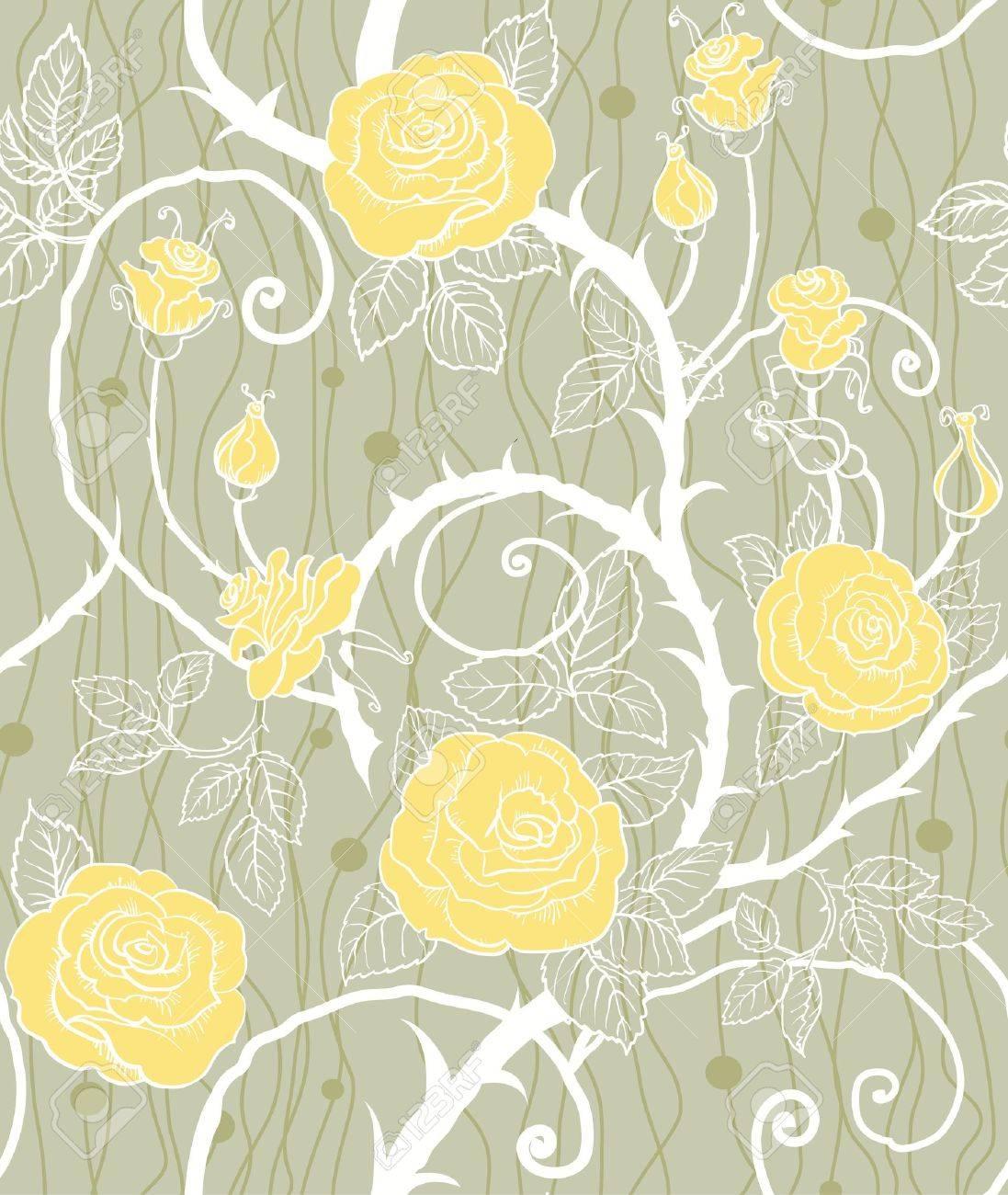 Yellow flowers seamless Stock Vector - 10585596