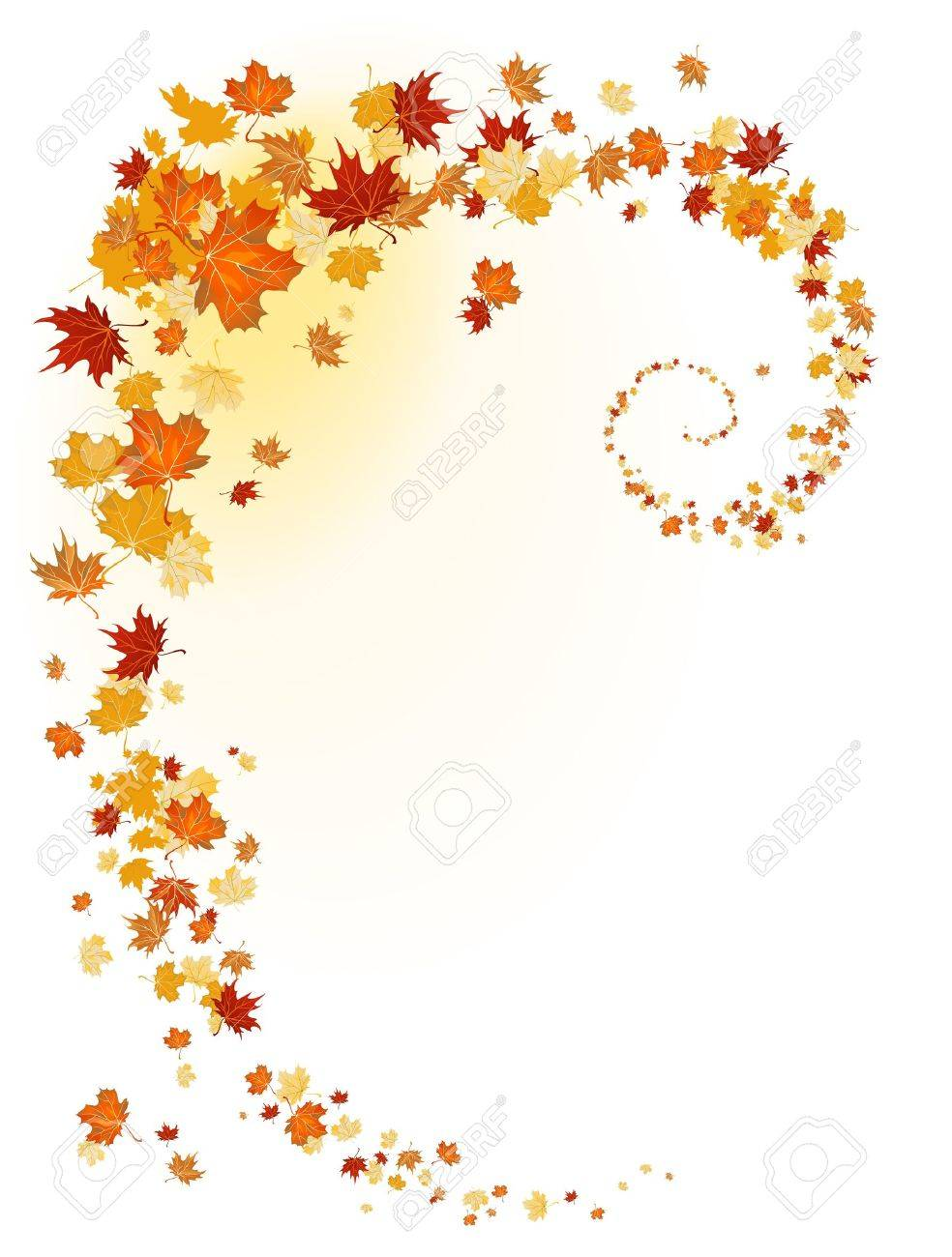 Leaves background with space for text Stock Vector - 10585601