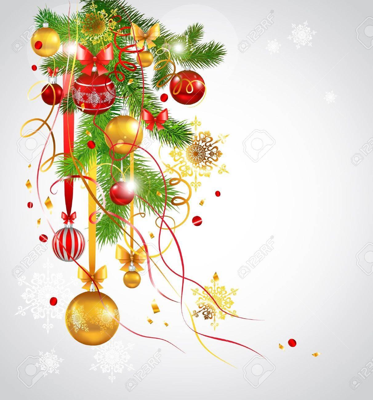 Beautiful decorated Christmas fir tree. Eps 10 Stock Vector - 10966392