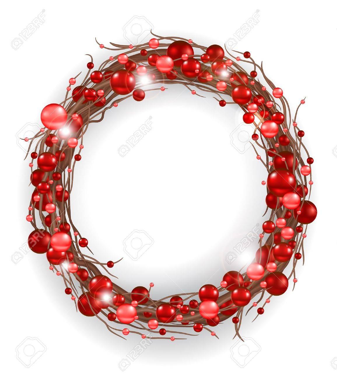 Christmas wreath Stock Vector - 11064367