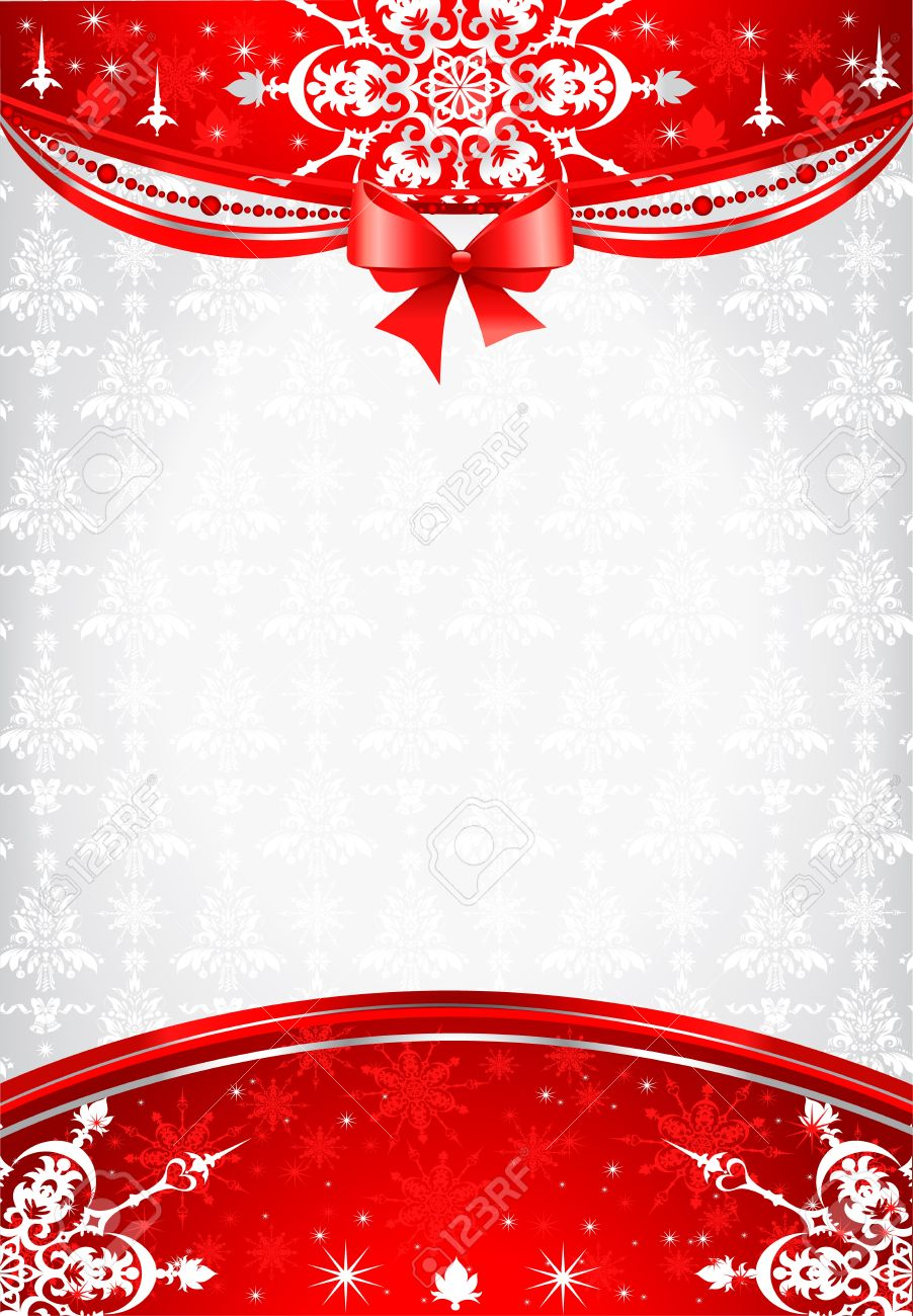 Red And Silver Christmas Background Royalty Free Cliparts, Vectors ...