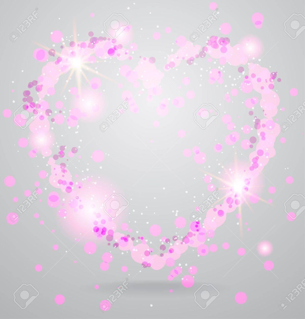 Shining heart background Stock Vector - 18705019