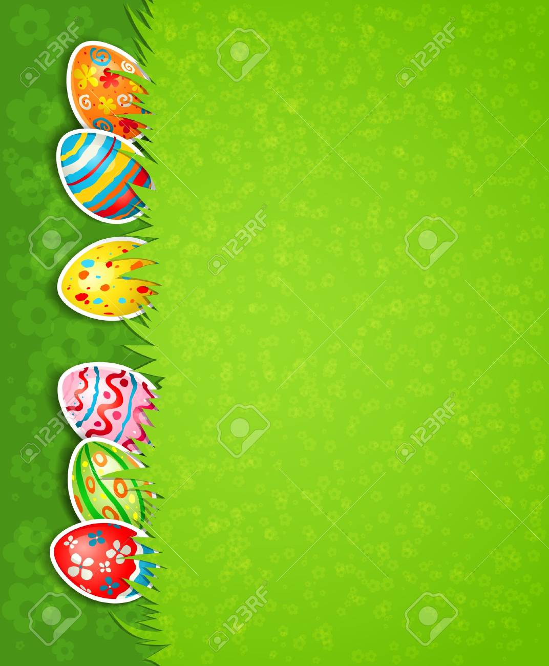 Easter festive background and egg in grass Stock Vector - 18705027