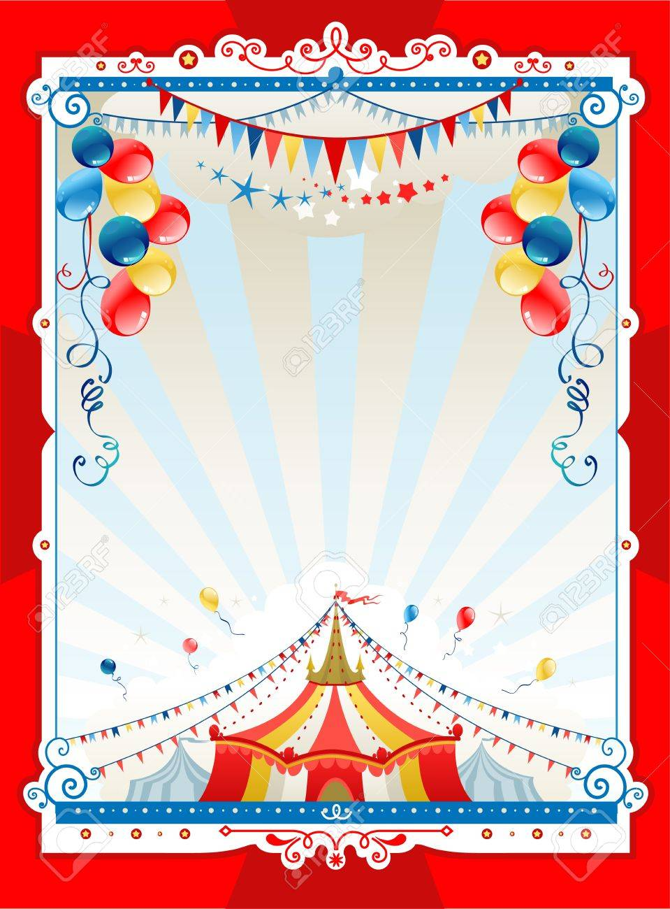 Bright Circus Frame With Space For Text Royalty Free Cliparts ...