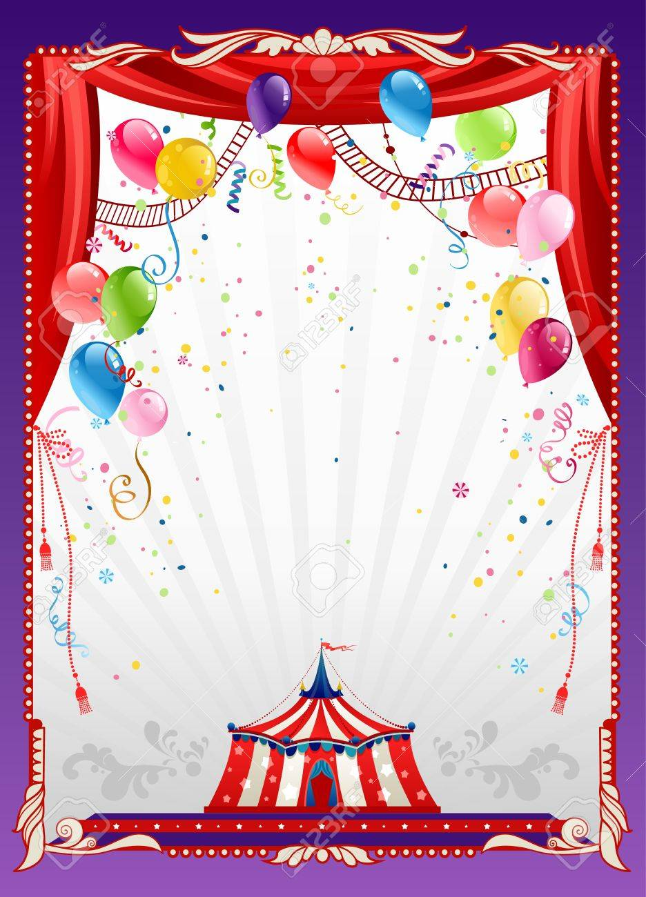 Circus background with balloons with space for text Stock Vector - 20544570