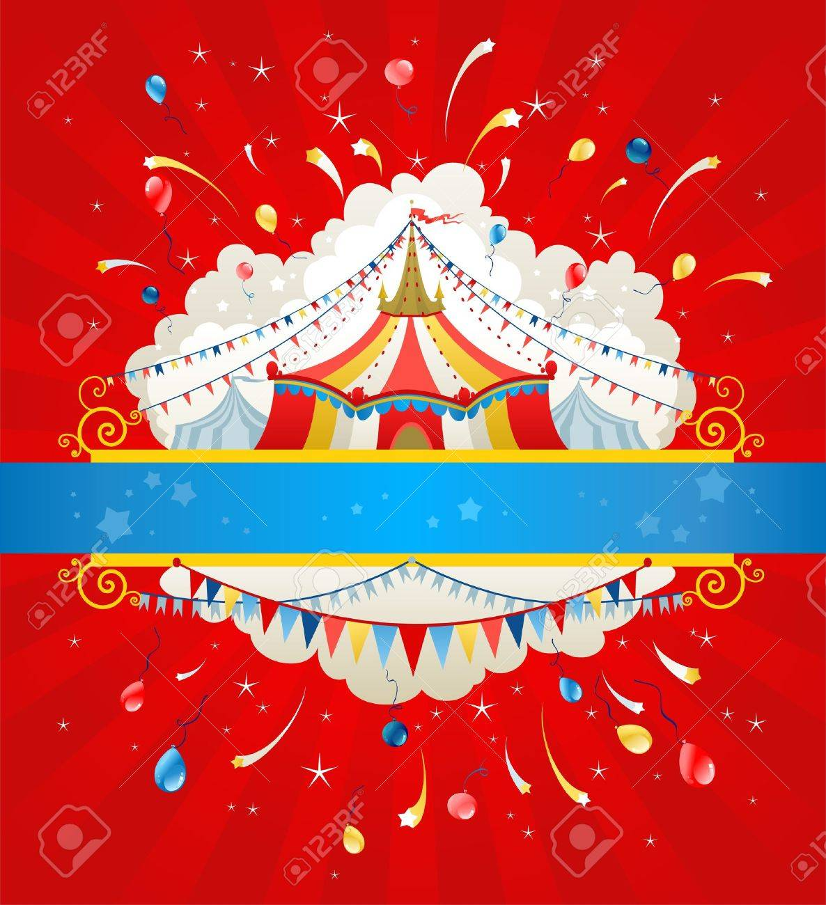 Circus background with space for text Stock Vector - 20544512