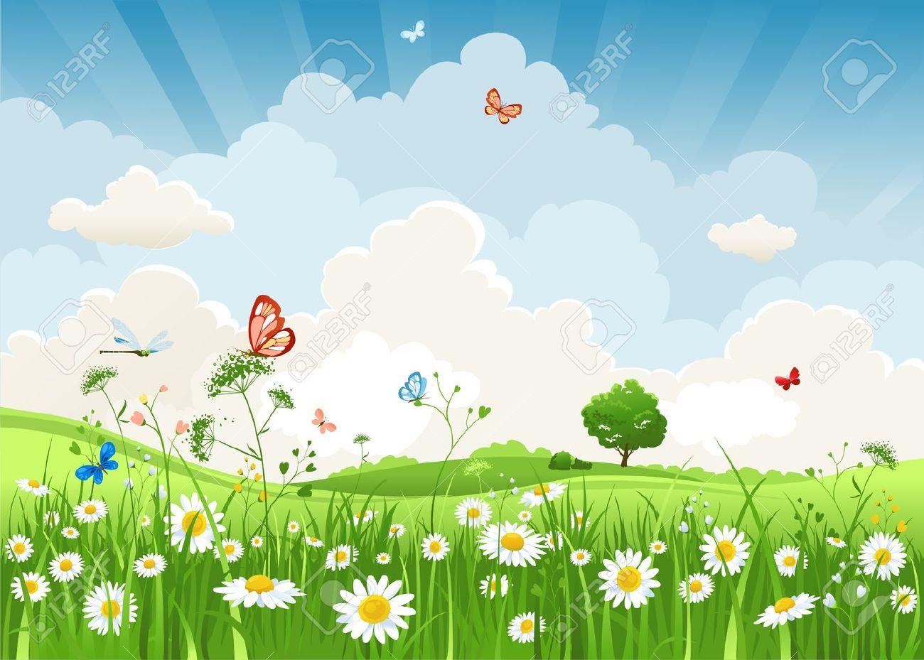 Summer sunny landscape Stock Vector - 20544597