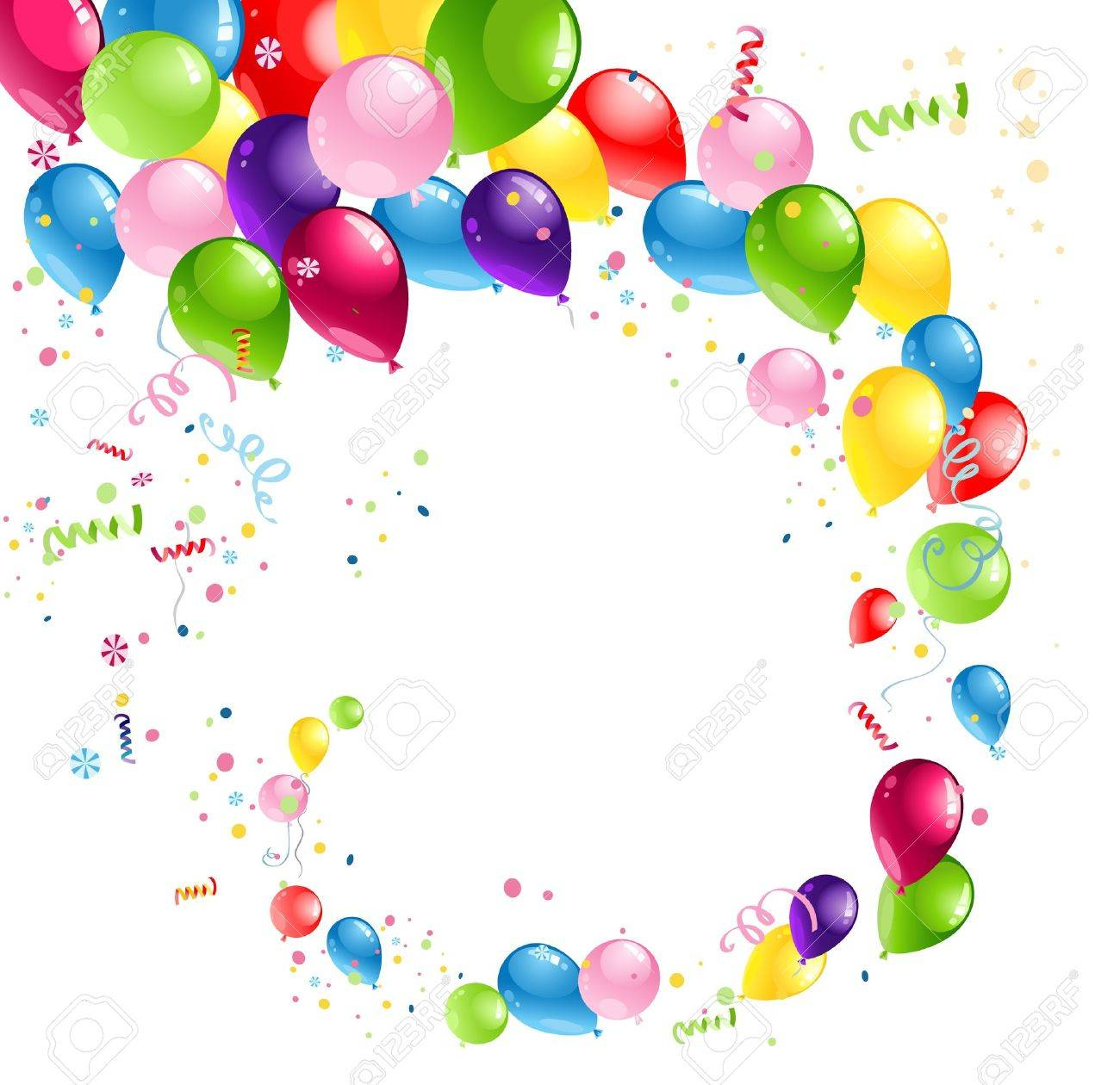 Balloons swirl with space for text Stock Vector - 20544517
