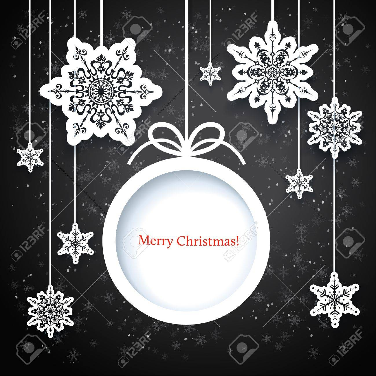 Black and white winter design with space for text Stock Vector - 20598699