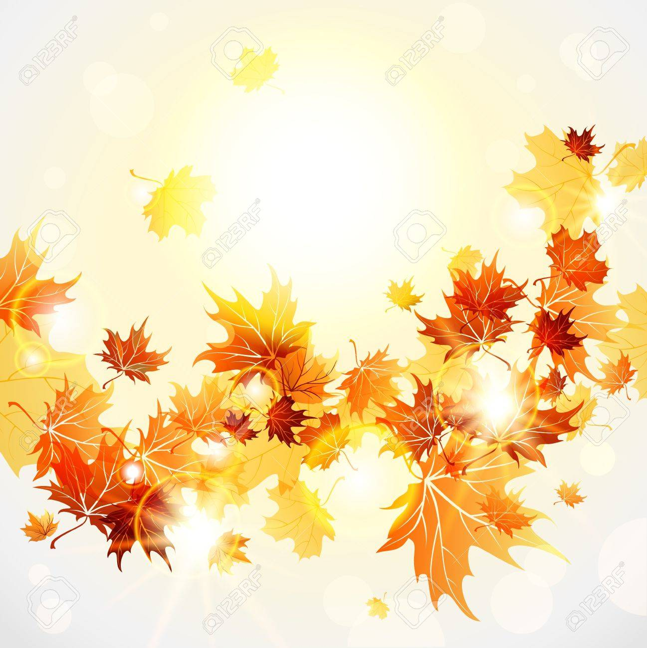 Maple leaves background Stock Vector - 20598696