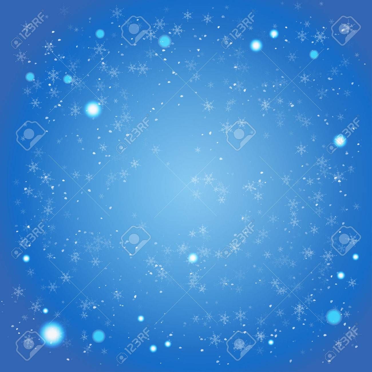 Winter blue background with space for text - 29870359