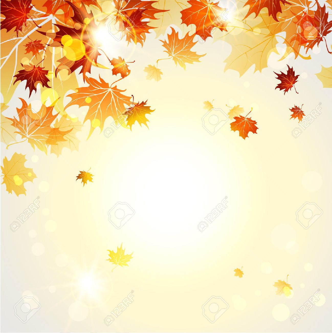 Beautiful autumn background with place for text. Raster version - 32146793