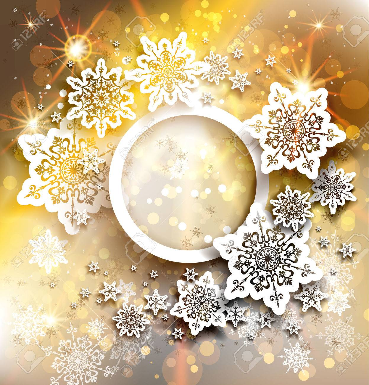 Gold christmas holiday background with place for text - 32148056