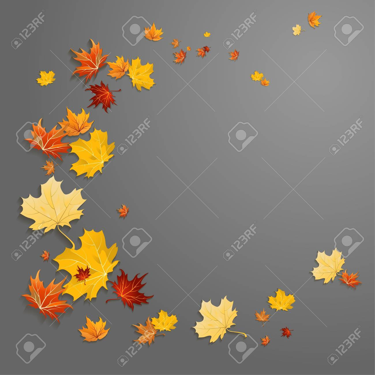 Abstract leaves background on dark background with place for text. - 32770377