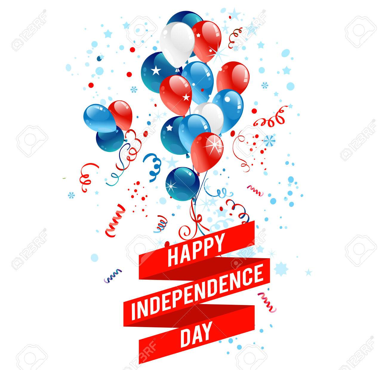 July fourth balloons. Holiday national design for advertising, leaflet, cards, invitation and so on. - 41736403