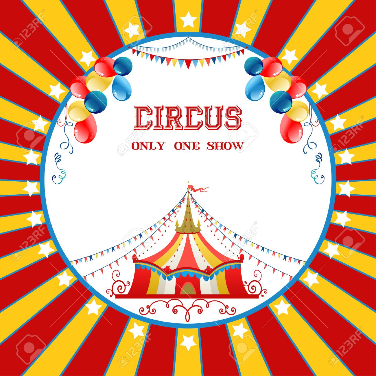 Circus poster with balloons - 41899890
