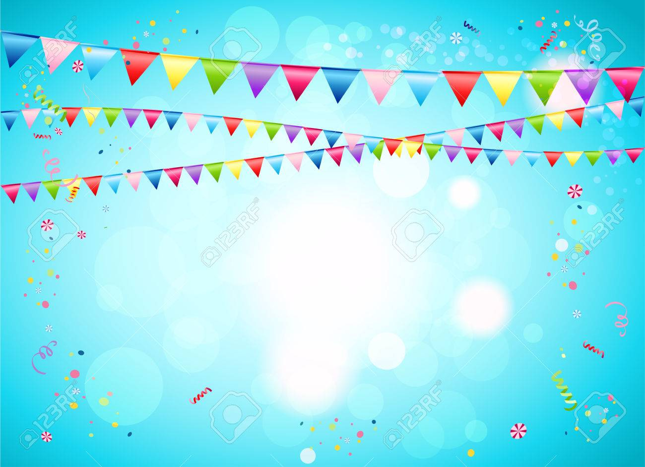 Festive background with flags for advertising, cards, invitation and so on. - 46572687