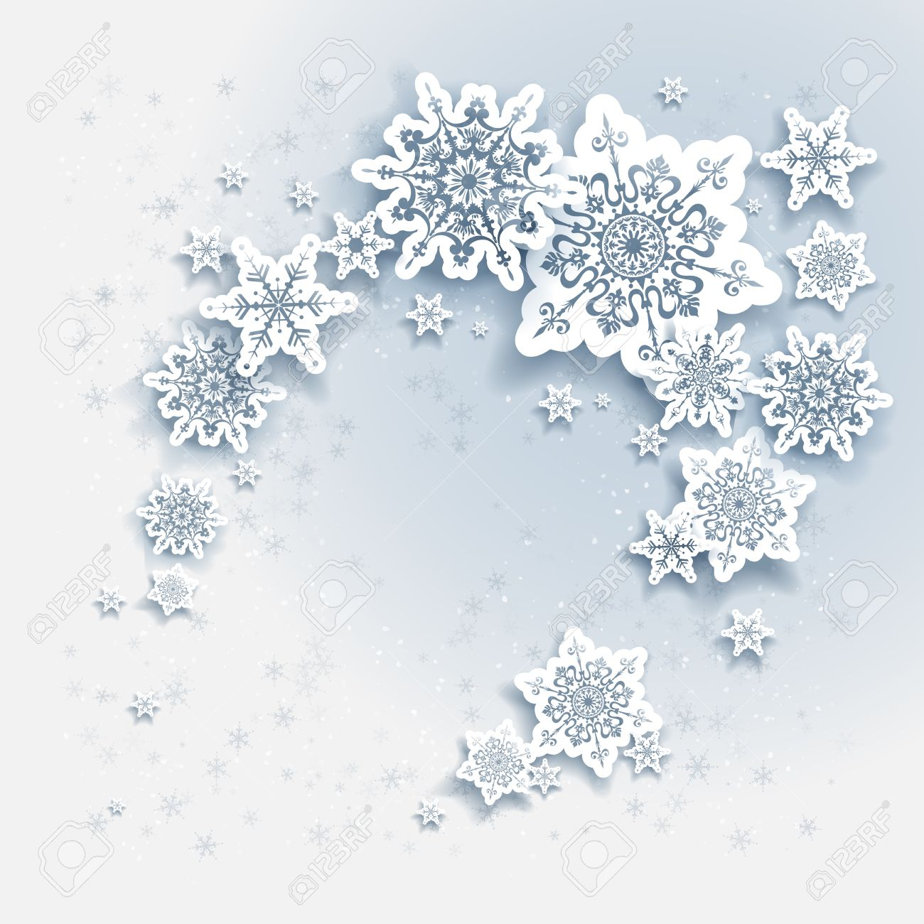 Snowflakes holiday Christmas background for banners, advertising, leaflet, cards, invitation and so on. - 46572763