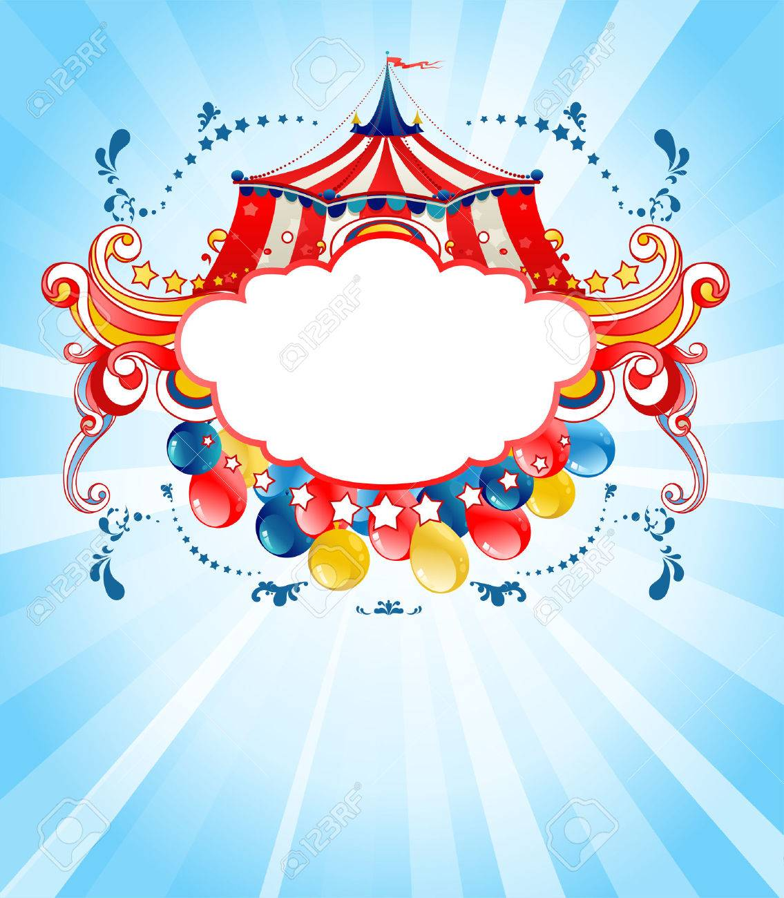 Bright circus background for design card, banner, leaflet and so on. - 46971516