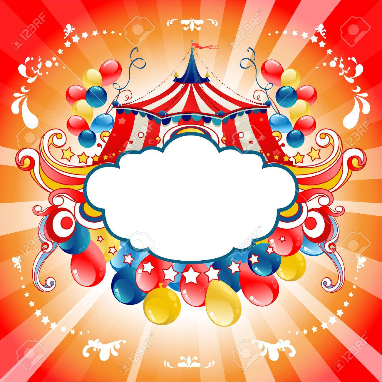 Bright circus for design card, banner,ticket, leaflet and so on. - 46971566