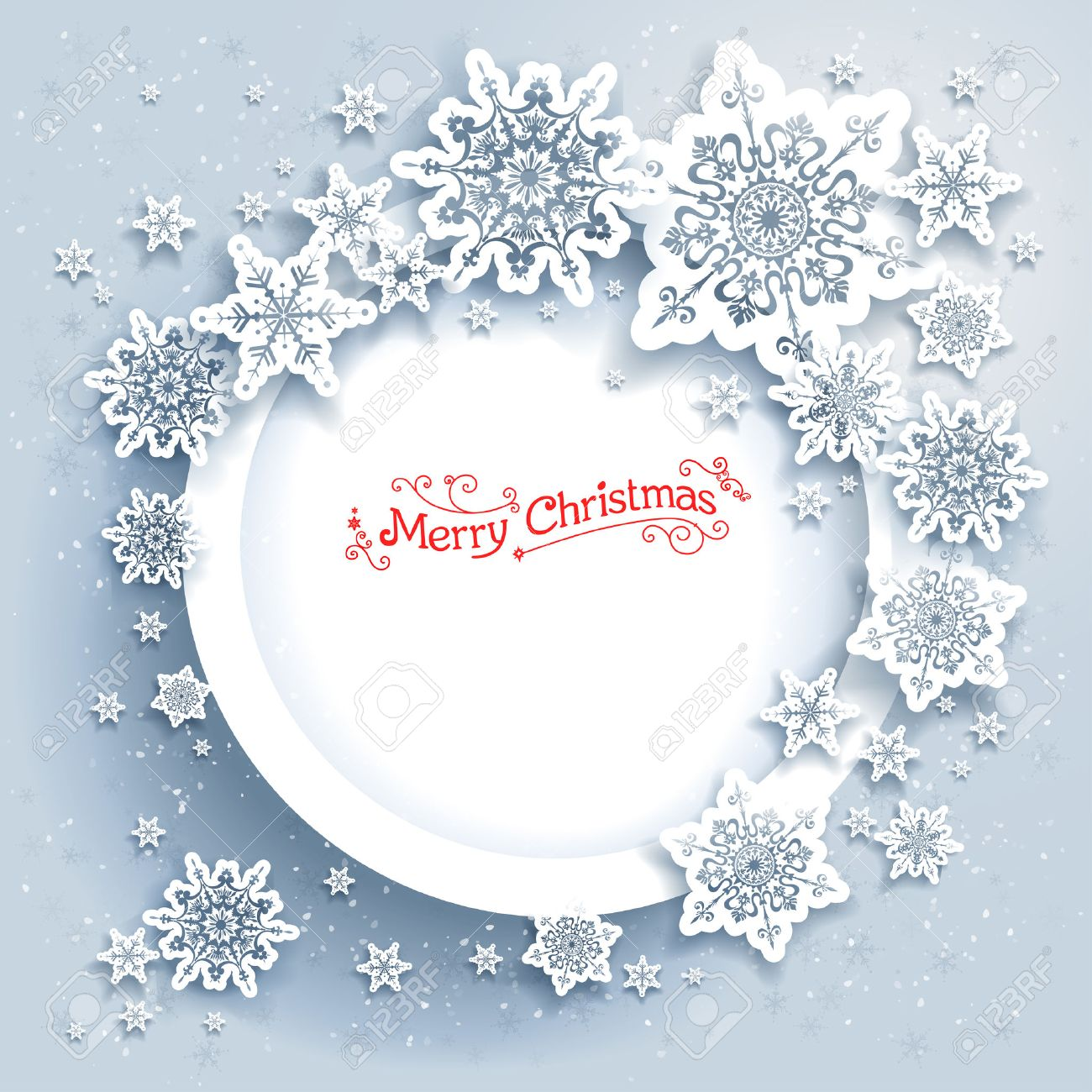 Snowflakes holiday frame. Winter holiday card for web, banner, invitation, leaflet and so on. Christmas background. - 47694132