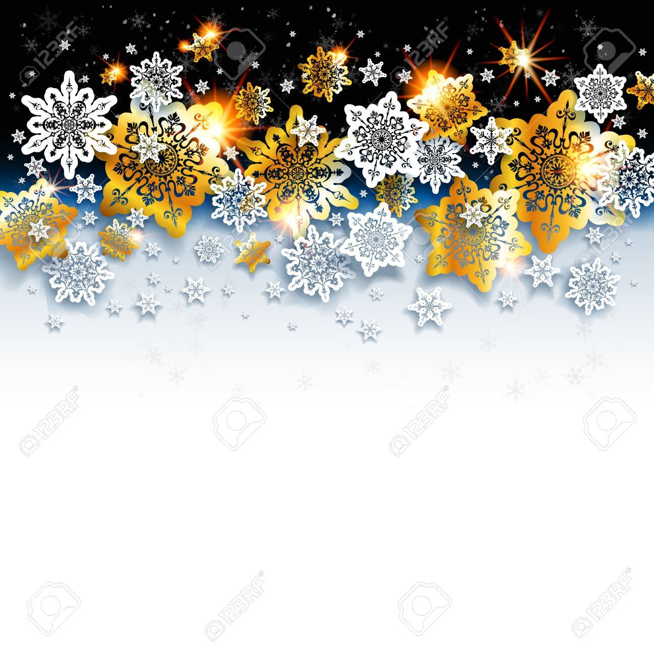 Abstract Winter Background With Shine Snowflakes Luxury Christmas