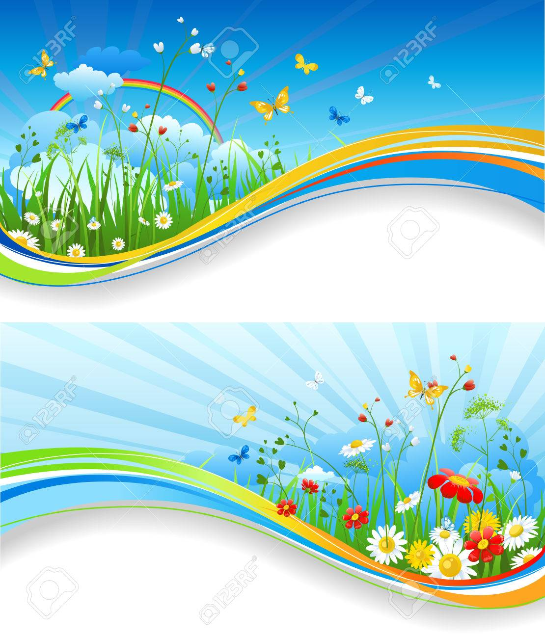 Poster design nature - Nature Template For Design Banner Ticket Leaflet Card Poster And So On