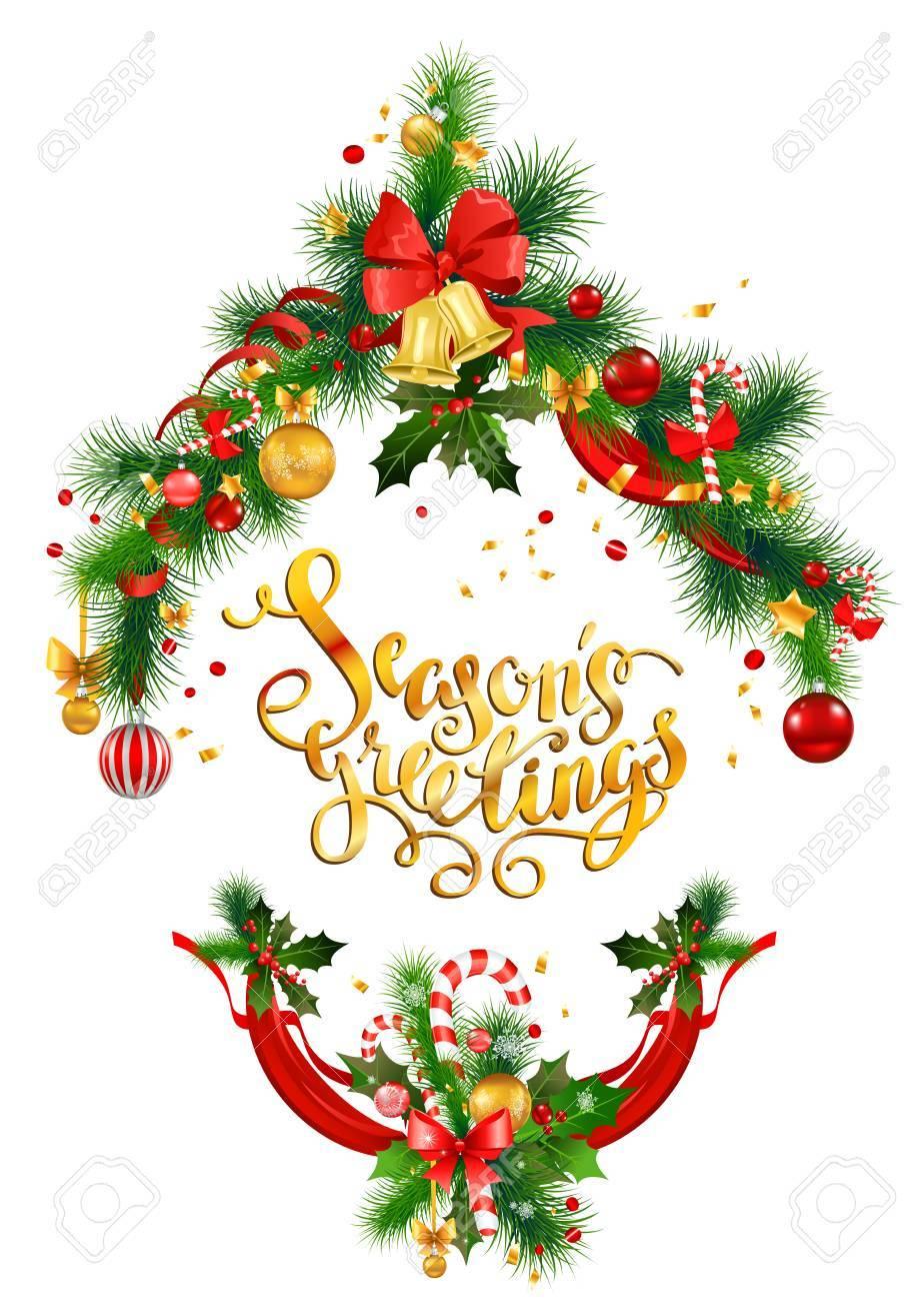 Décoration D'arbre De Noël Pour Invitation De Vacances Ou Carte