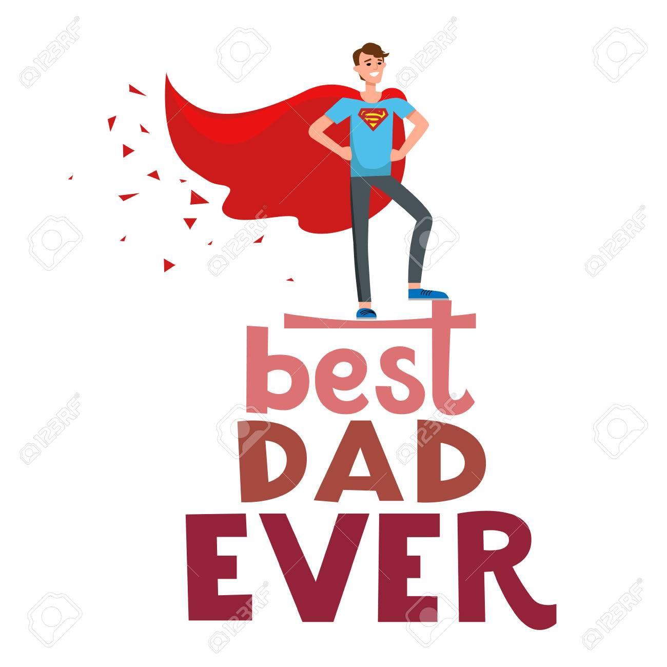 Stock Photo - Super hero dad