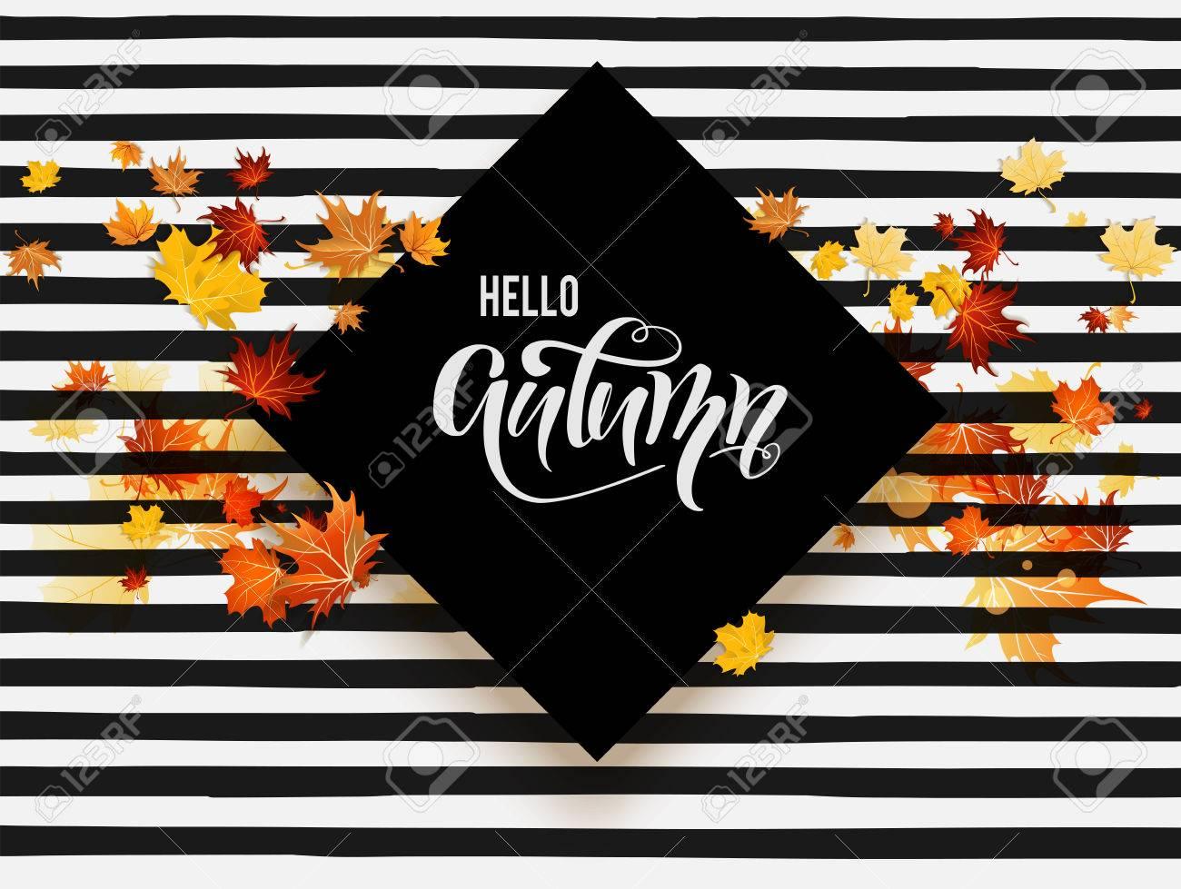 Black fall card - 82868655