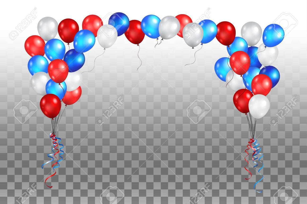 Festive balls on a transparent background vector illustration. - 84666368