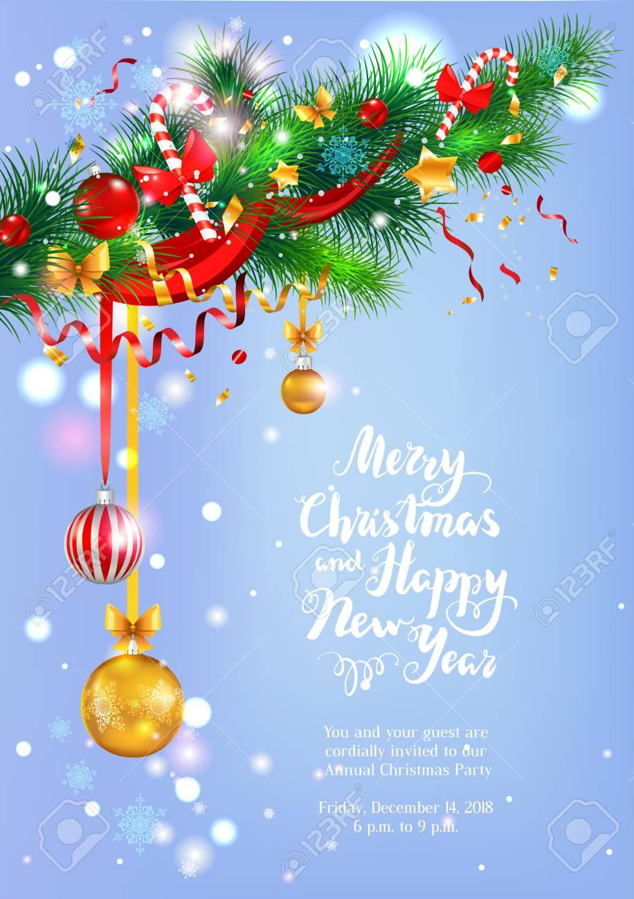 Ein Frost Happy Christmas Grußkarte Vektor-Illustration. Lizenzfrei ...
