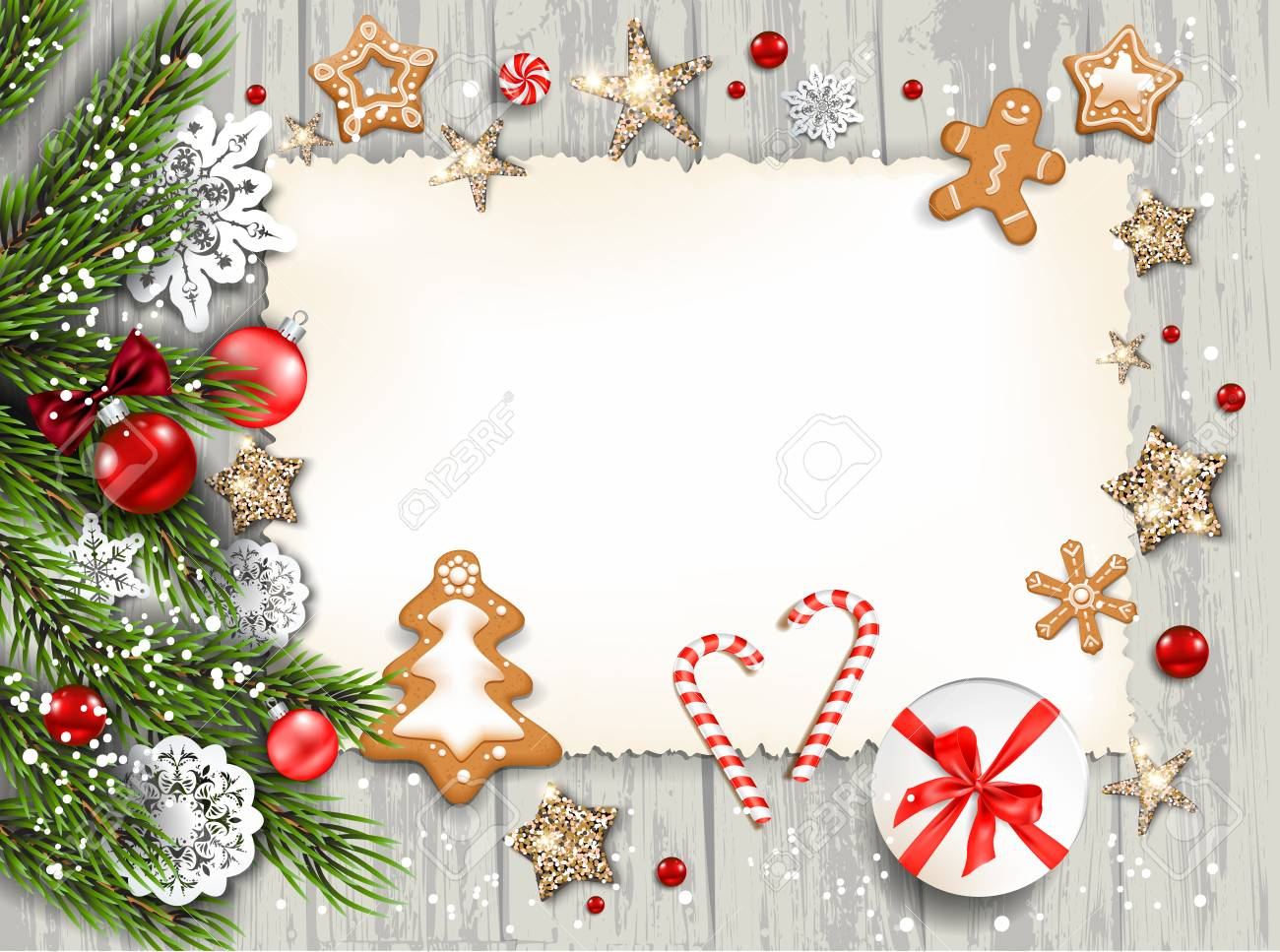 christmas festive template for banner ticket leaflet card