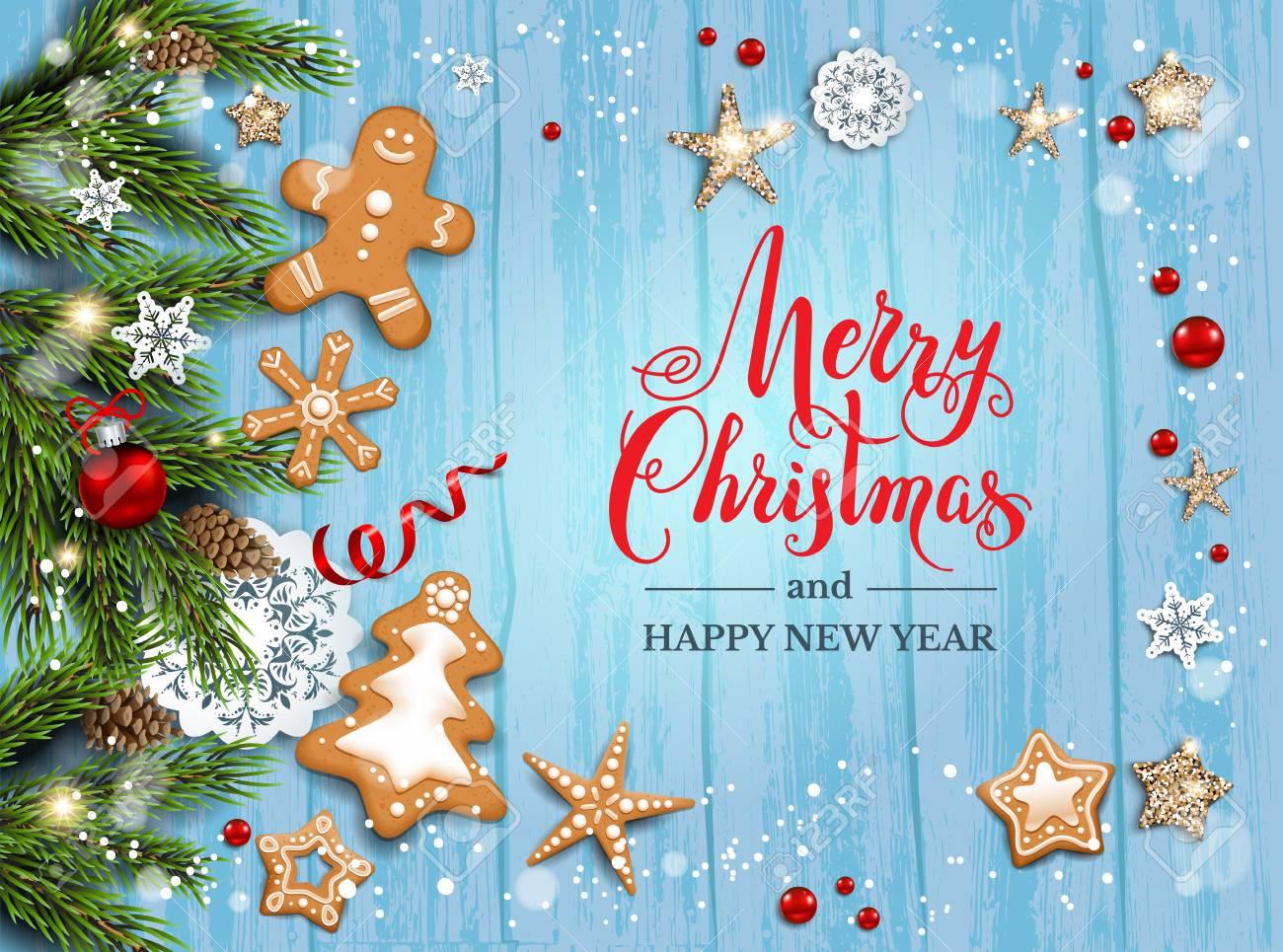 Christmas Leaflet Background.Christmas Festive Template For Banner Ticket Leaflet Card