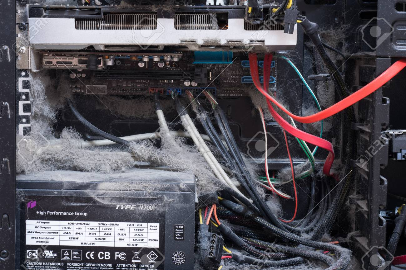 Main Components Of The Outdated, Dusty And Non-working Computer ...