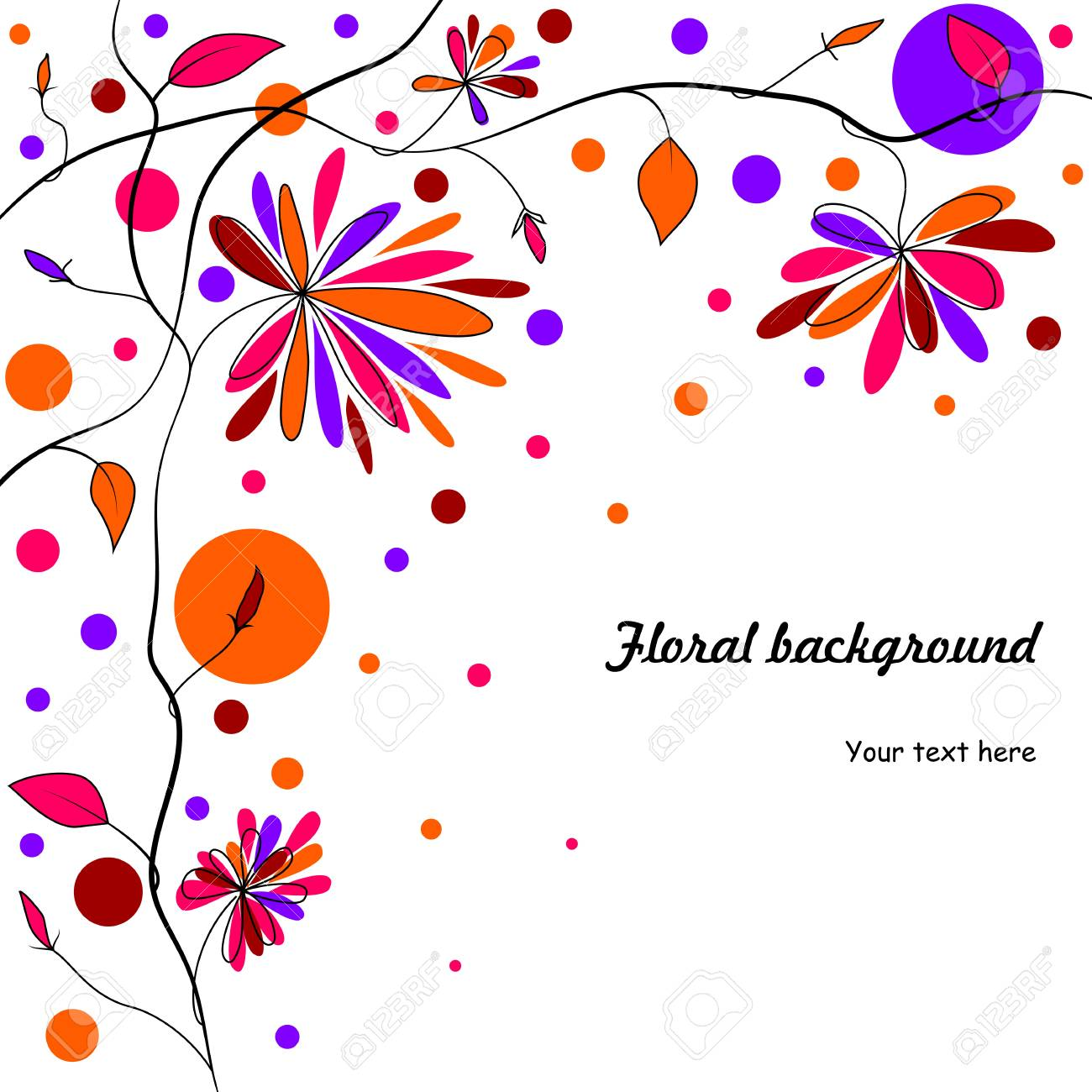 abstract floral background Stock Vector - 18403859