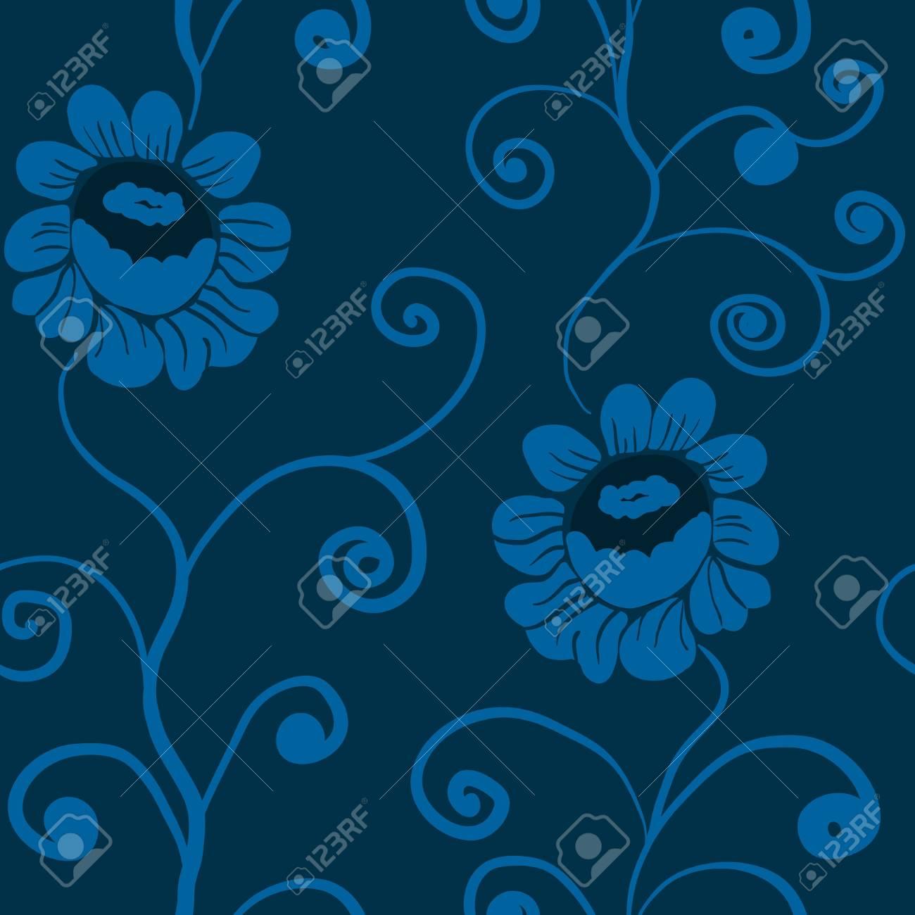 seamless flowers Stock Vector - 20987344