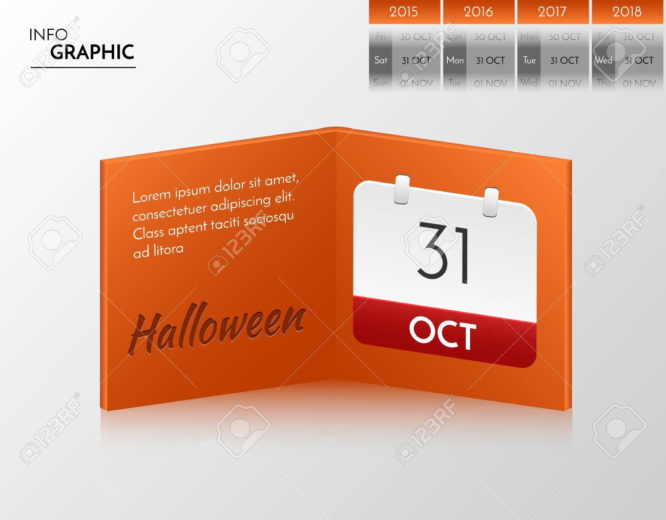 Banniere Orange Pour Vos Propres Creations Livre D Infographie Avec Design Halloween