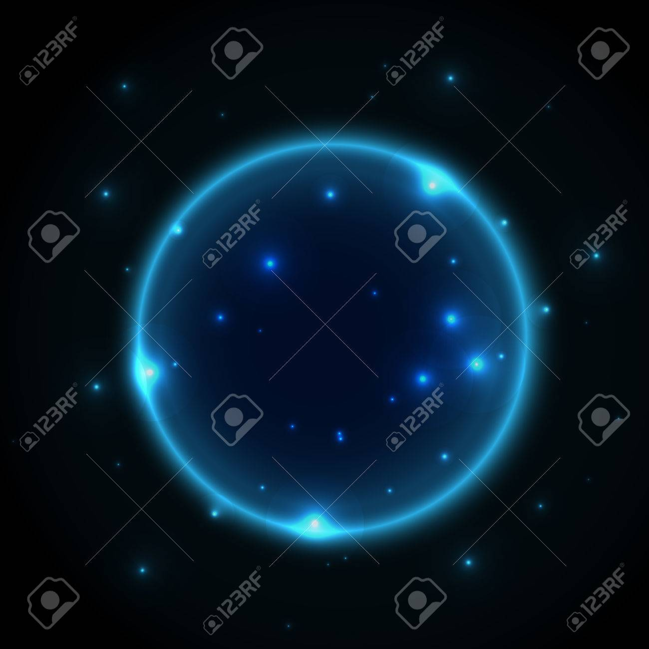 61926600 glowing universe planets space vector background with sparkling stars and lines abstract galaxy wall