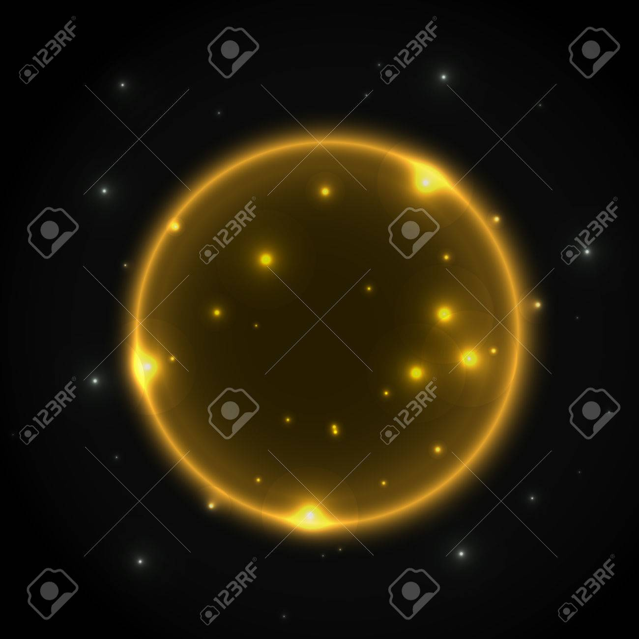 Glowing Universe Planets Space Vector Background With Sparkling Royalty Free Cliparts Vectors And Stock Illustration Image 61926622