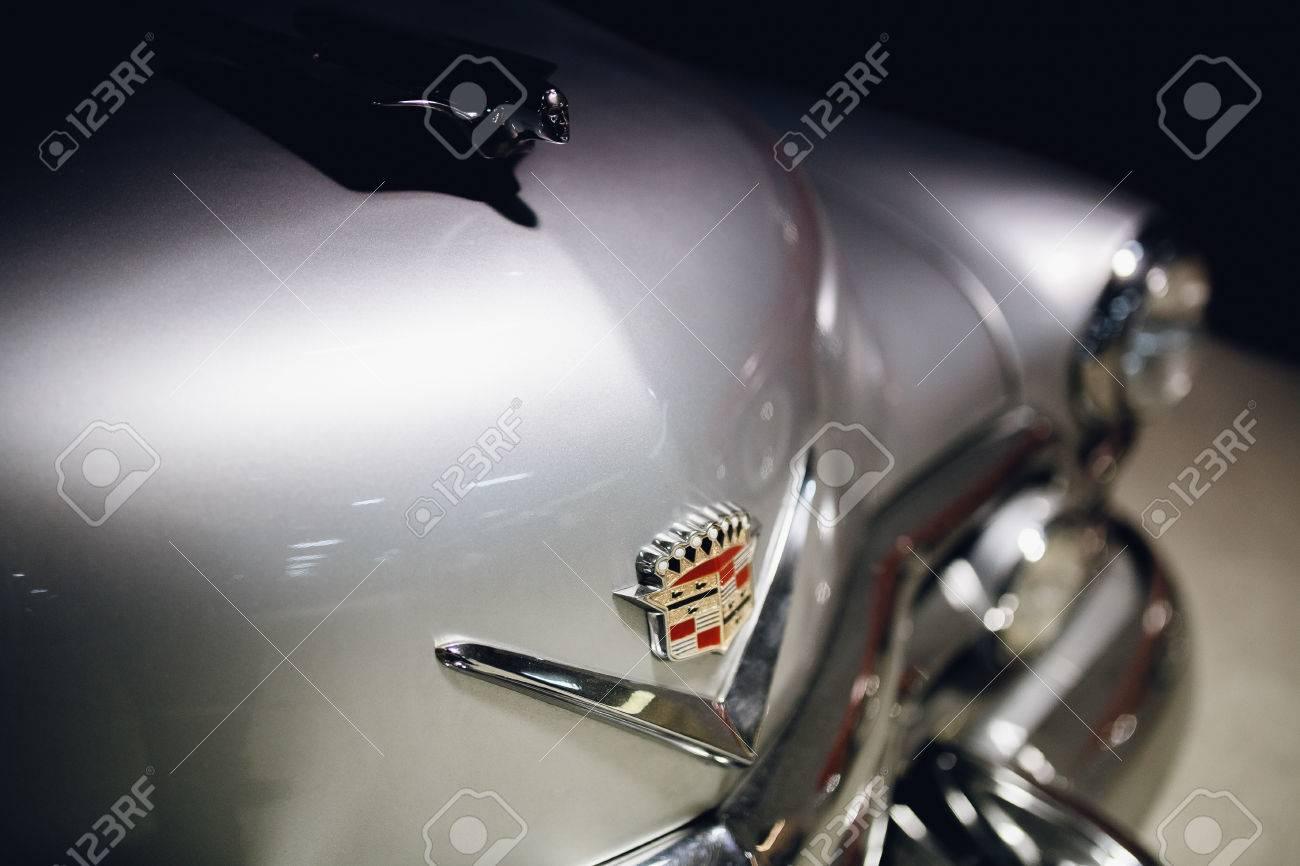 St Petersburg Russia June 1 2017 Cadillac Coupe Deville Stock 1951 Sedan Gray