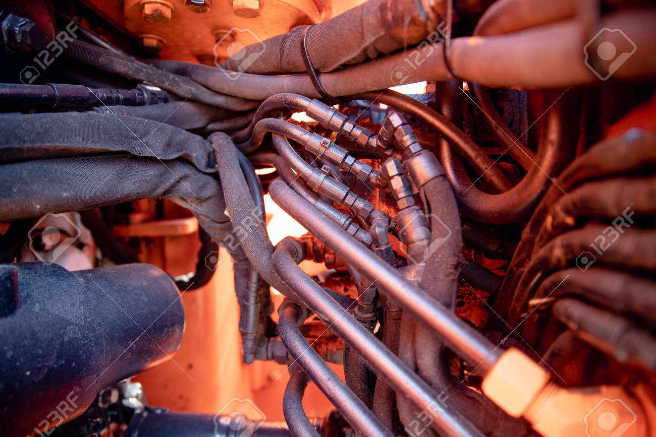 Components Pipe system of hydraulic hose valves in industry machinery for builder and mining - 172921601