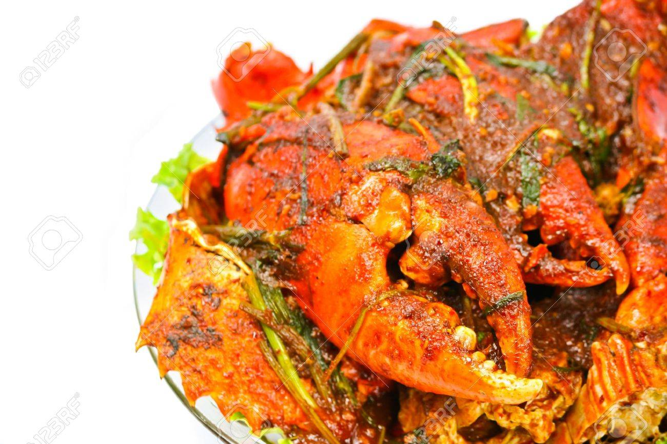 fried Crab with curry paste Stock Photo - 10301739