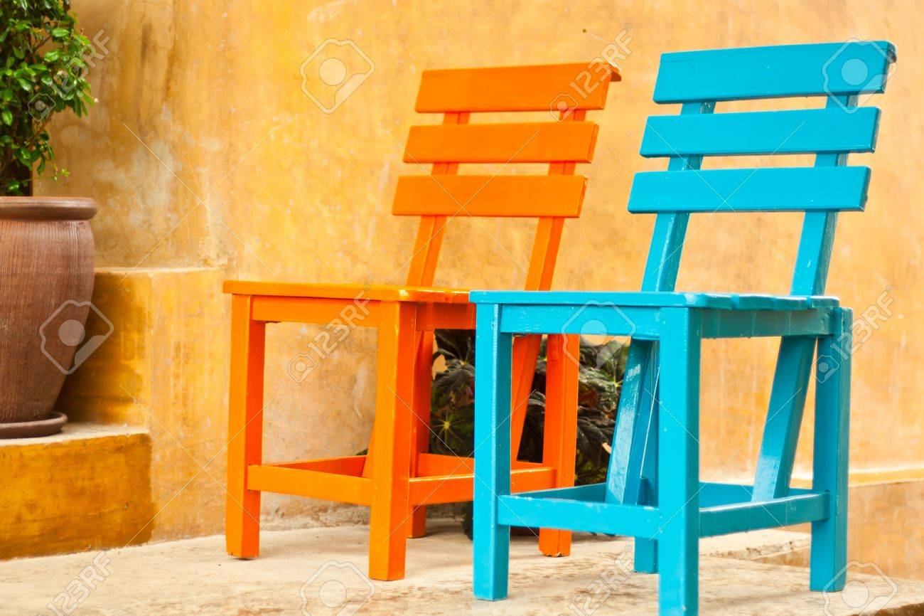 two chairs in the garden Stock Photo - 10425154