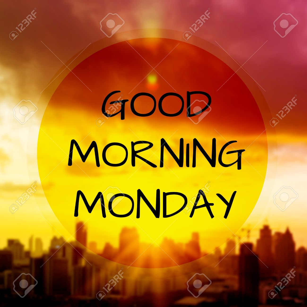 Good Morning Monday On Blur Background Stock Photo Picture And