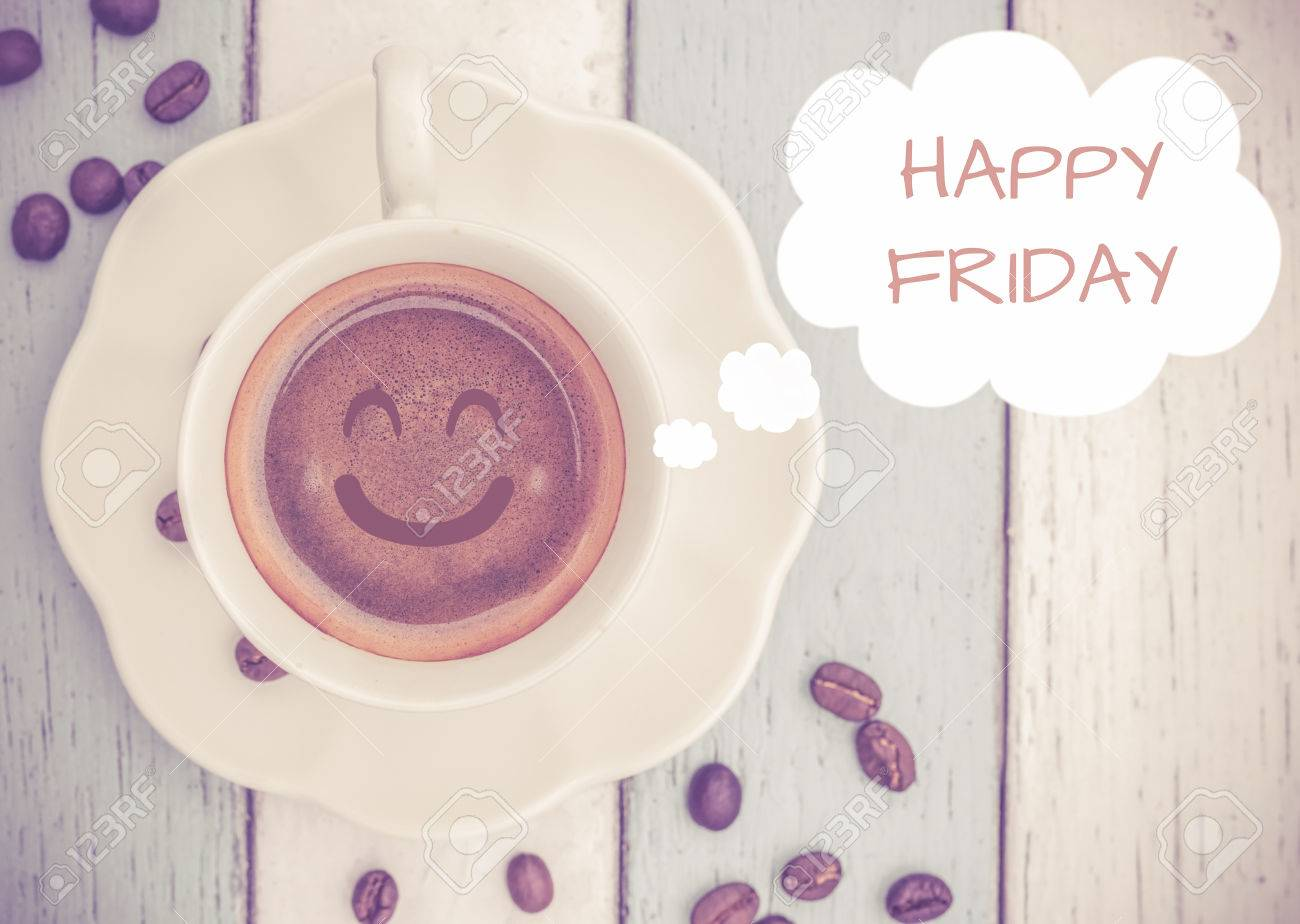 Happy Friday with coffee cup Stock Photo - 48187980