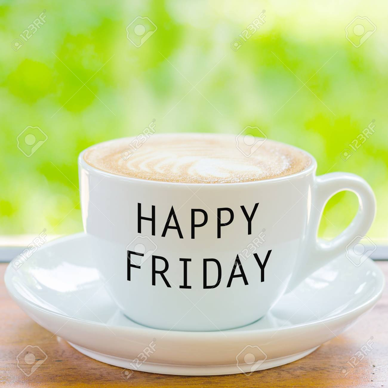 Happy Friday On Coffee Cup Stock Photo, Picture And Royalty Free ... #coffeeFriday