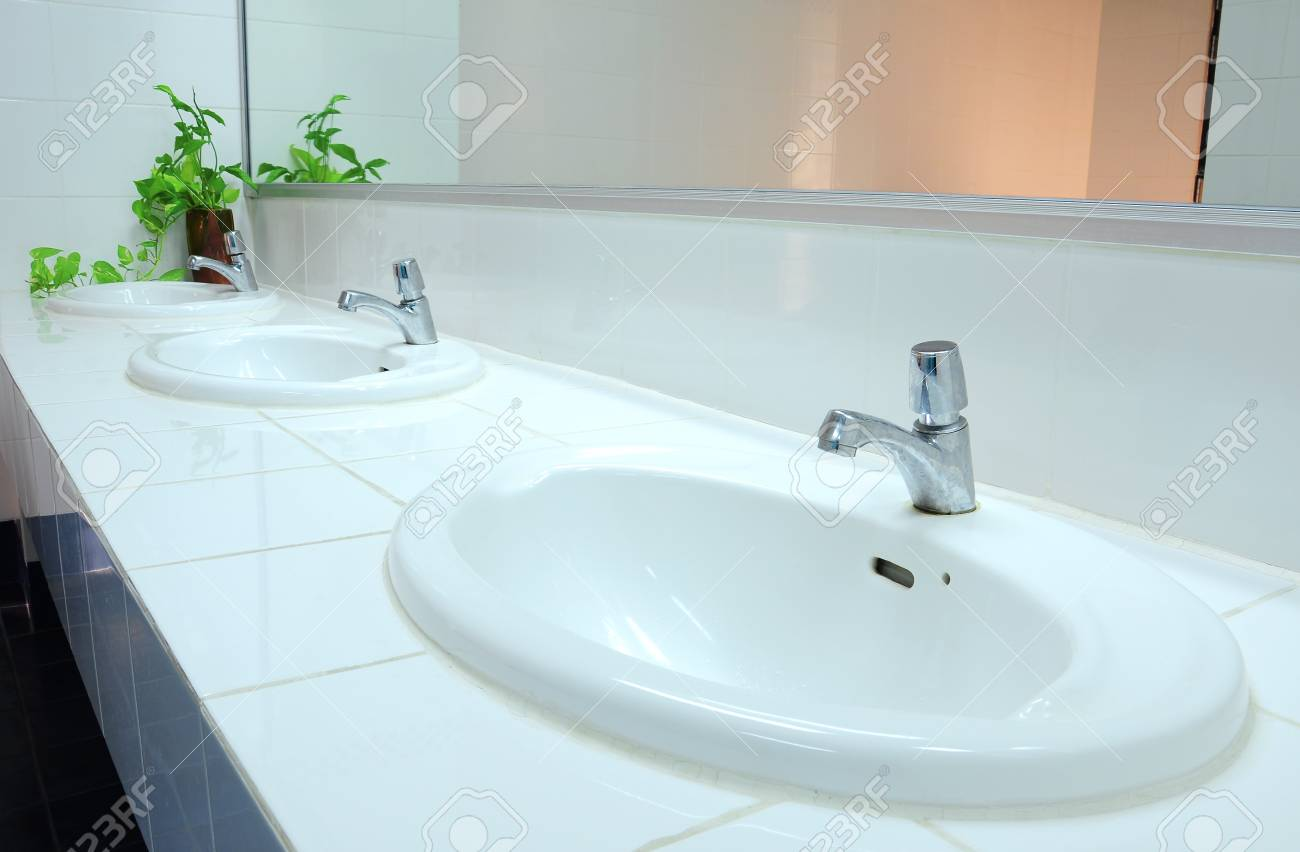 Bathroom at office Stock Photo - 8627428