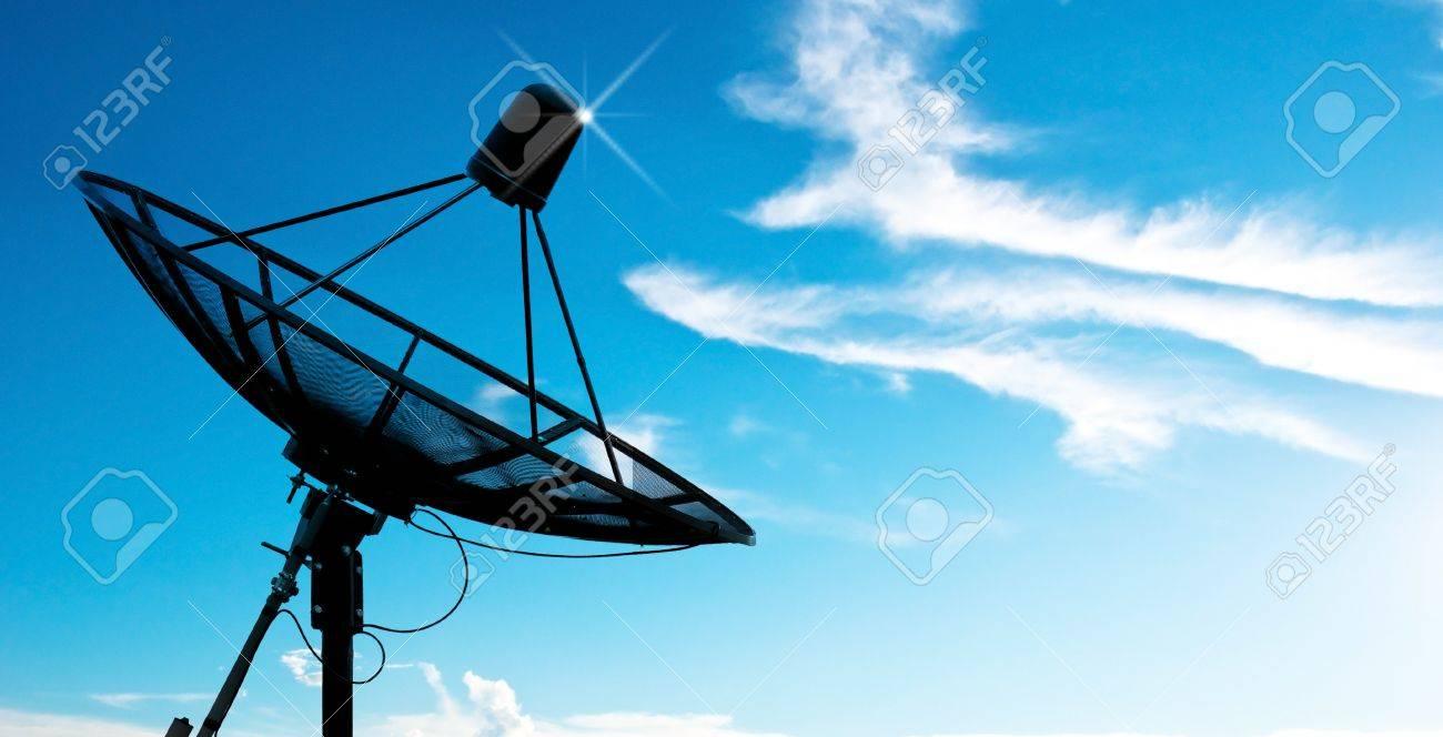 satellite dish antennas under sky - 8793630